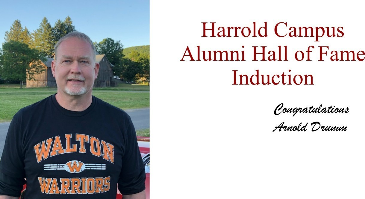 photo of Arnold Drumm induction to Harrold Campus Alumni Hall of Fame