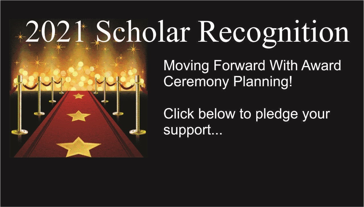 image of award with link to scholar award pledge