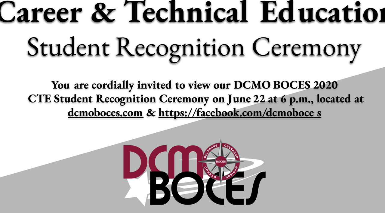 BOCES compass logo announces the Career & Technical Education Student Recognition Ceremony