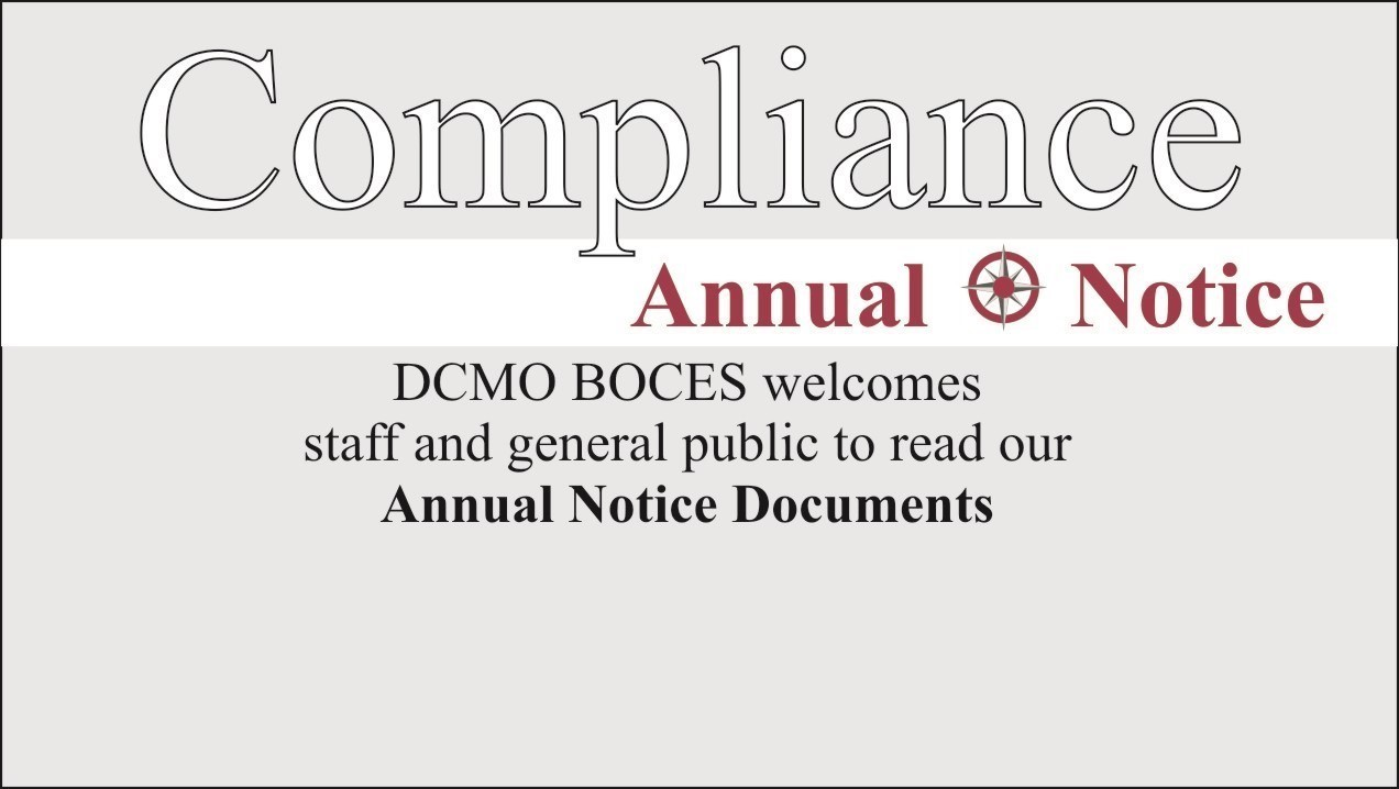 Word compliance followed by a link to view our annual notice