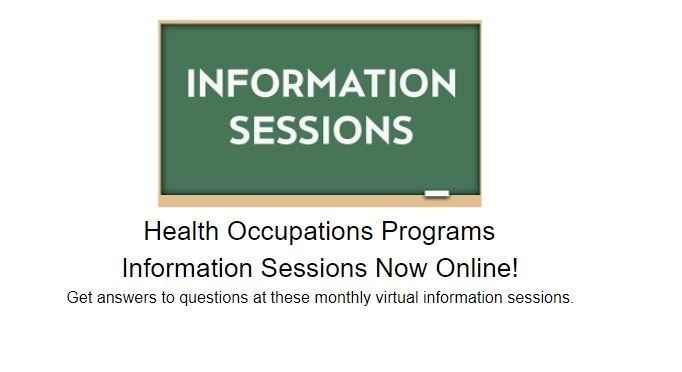 image of black board with link to information sessions