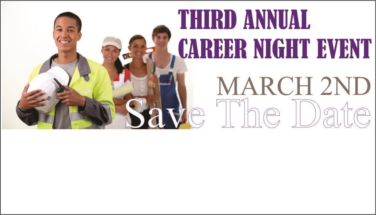image of students with careers and link to view annual career night event