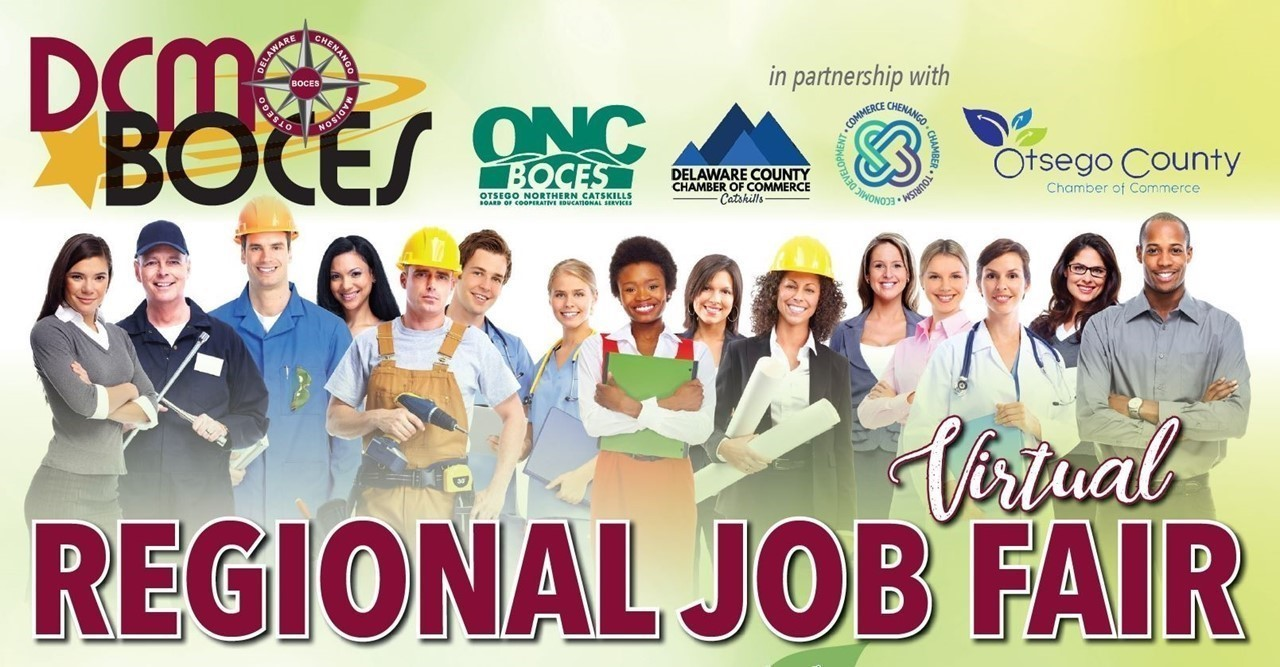 IMAGE OF PEOPLE IN DIFFERENT CAREERS WITH LINK TO VIRTUAL JOB FAIR