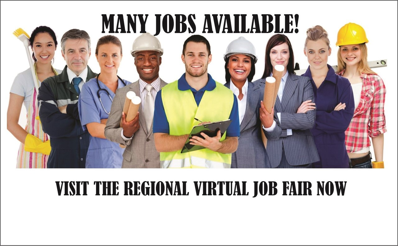 IMAGE OF WORKERS WITH LINK TO VIRTUAL JOB FAIR