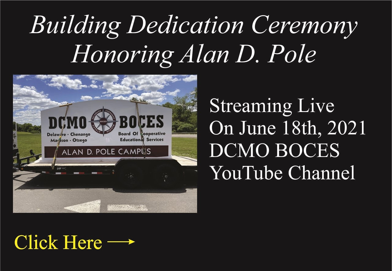 photo of boces sign with link to dedication ceremony