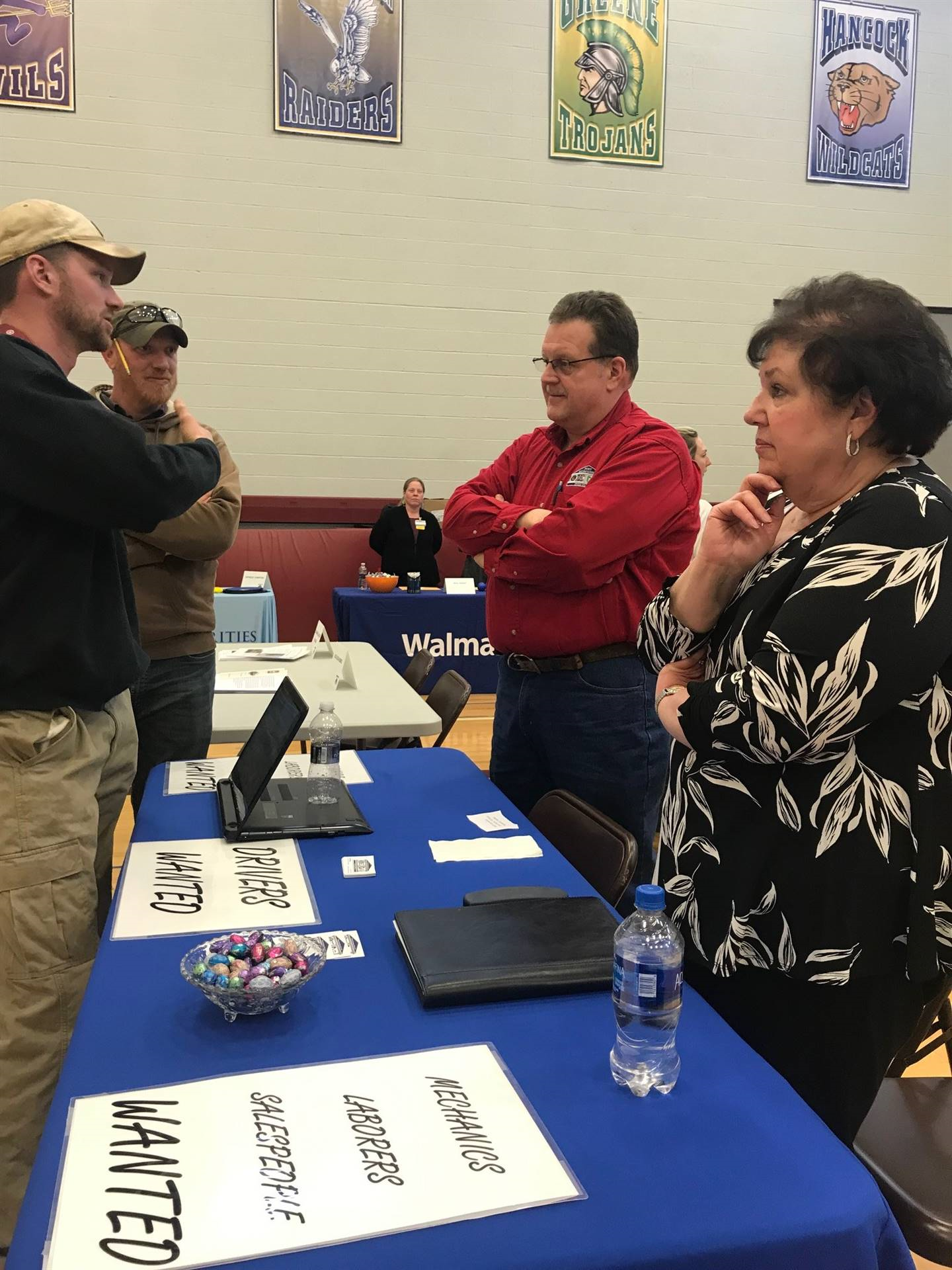 image of employer presenting at job fair
