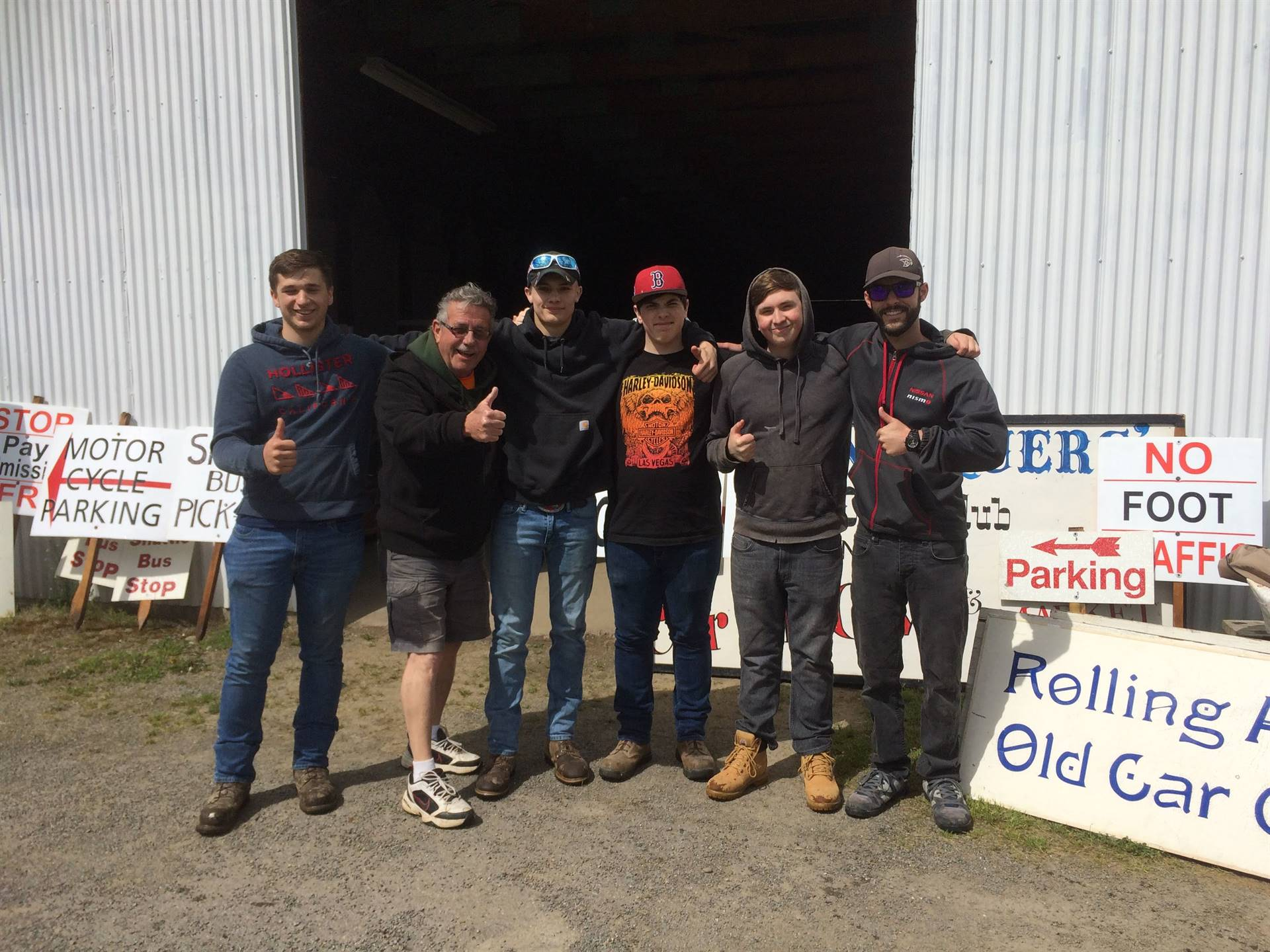 students at rolling old car antiques work experience