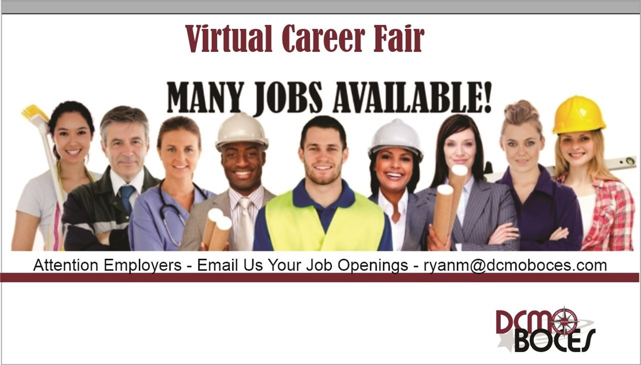 image of people from different occupations with link to job fair