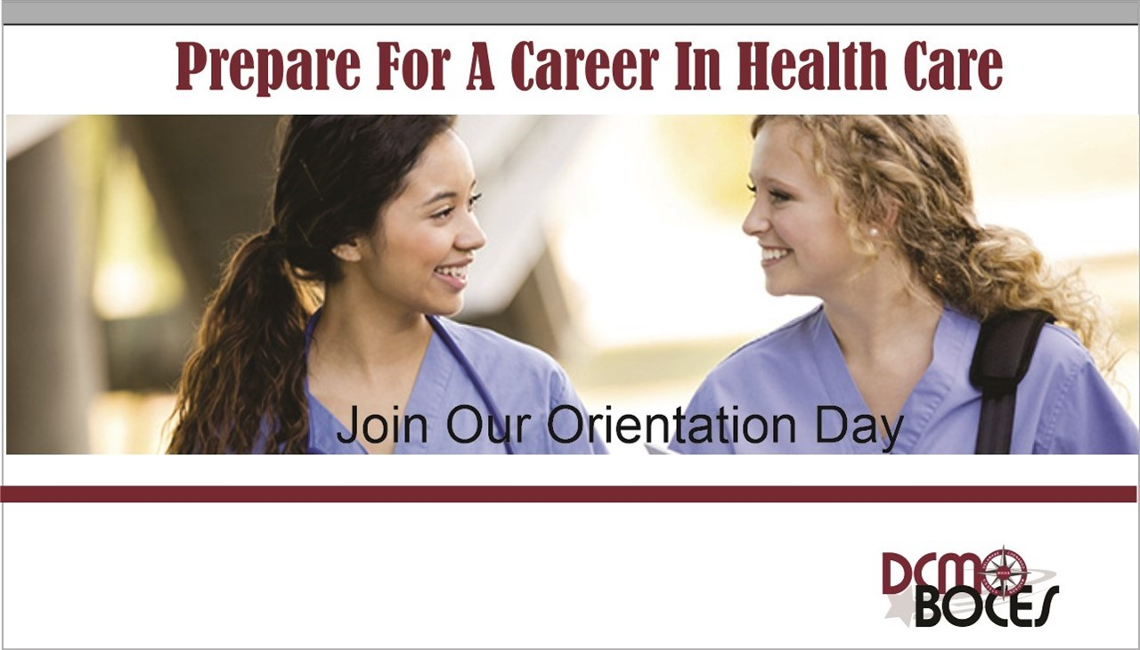 image of two nursing students with message to join information session