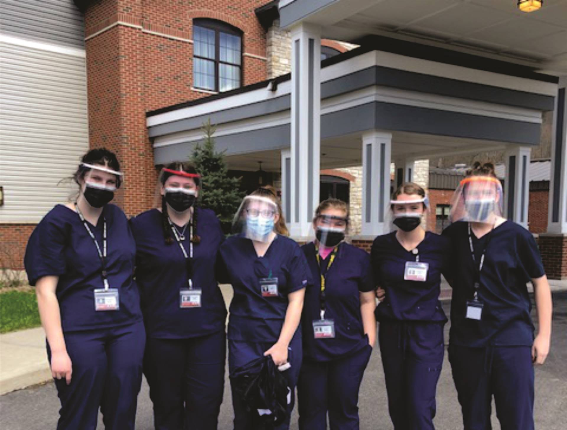 image of students at hospital learning